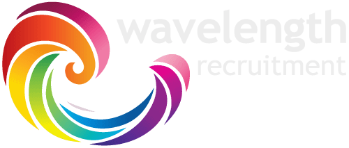 Wavelength Recruitment Gloucester and Bristol Logo White